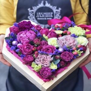 Цветочное сердце 1