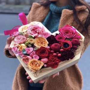 Цветочное сердце 7