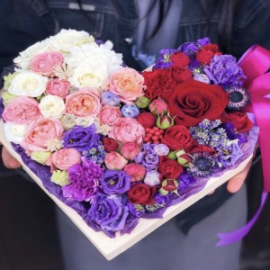 Цветочное сердце 8