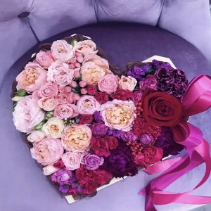 Цветочное сердце 6