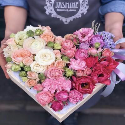Цветочное сердце 9